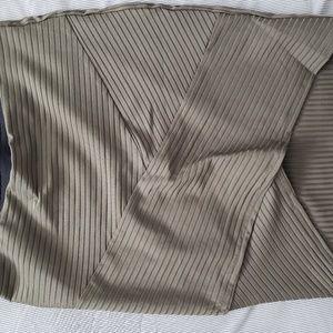 H&M olive wrap-style mini skirt